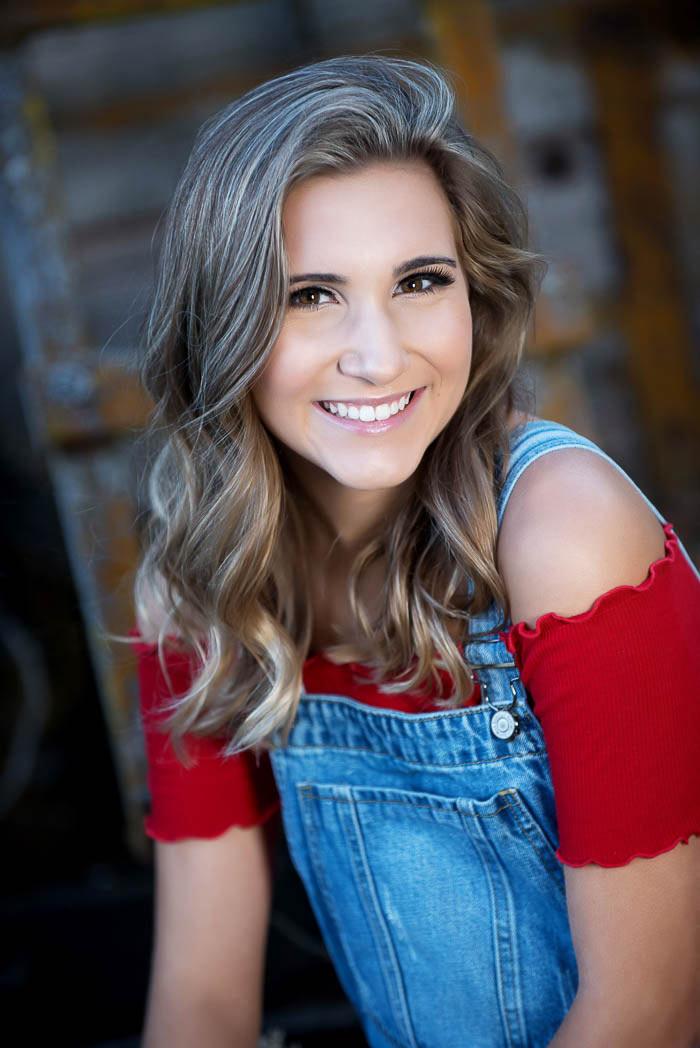 beautiful senior girl smiling